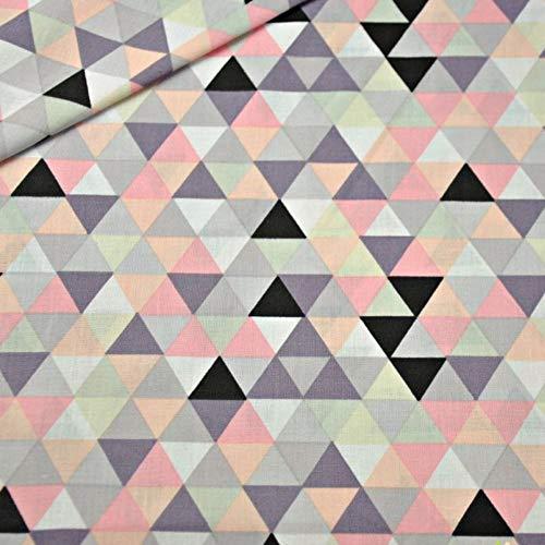 Pingianer 50x160cm 15,98€/m Dreiecke Rauten 100{28db31355129e26707b2560c866c86d046b7d8dbe5504ec4aa74cef38f7cb3e2} Baumwolle Baumwollstoff Kinderstoff Meterware Handwerken Nähen Stoff (Dreiecke Bunt)