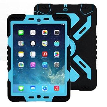 Meiya Coque de protection avec socle pour iPad 234Étanche/robuste/résistant aux chocs, au sable, à la saleté et à la neige Style militaire Poids léger Idée cadeau pour enfant