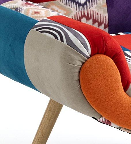 Wink design, L'Aia, Poltrona, Tessuto Tecnica Patchwork, Multicolore, 74 x 84 x 70 cm