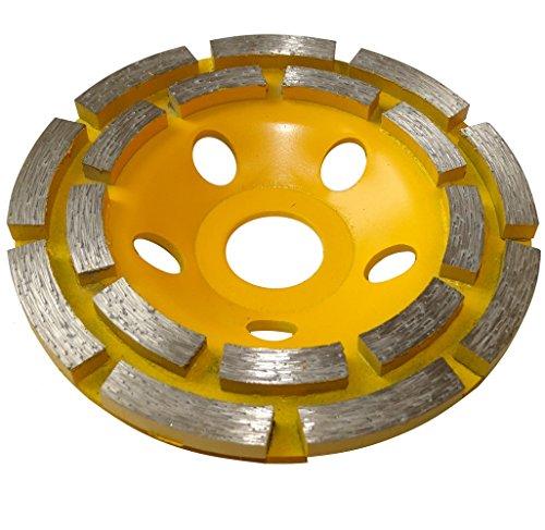 Aerzetix - Disco diamantato a levigare 110 mm 22.23 mm per smerigliatrice 115 mm cemento pietra...