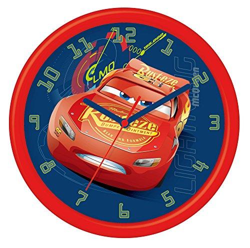 Disney Cars 3 - Orologio da parete in confezione regalo, in plastica, 24 cm, multicolore