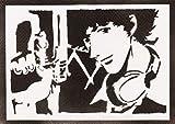 Póster Spike Spiegel Cowboy Bebop Grafiti Hecho A Mano - Handmade Street Art - Artwork