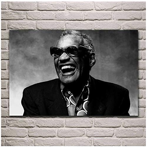 Sconosciuto Charles Ray Musicista autore Soul Jazz Rhythm Blues Nero Bianco Ritratto Soggiorno Home Wall Art Decor poster-60x80cm-No Frame