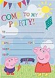 Gemma Internacional Peppa Pig invitaciones de fiesta y sobres (20unidades)
