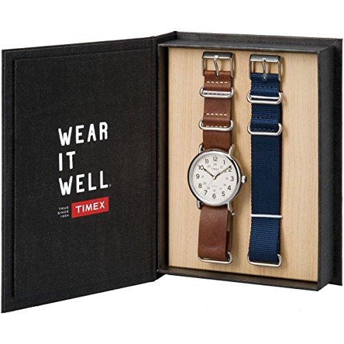 Timex Orologio Analogico-Digitale Quarzo Unisex Adulto con Cinturino in Pelle TWG012500