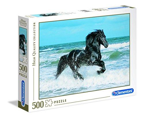 Clementoni - 30175 - High Quality Collection Puzzle - Black horse - 500 Pezzi