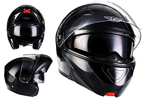 Cascos de moto baratos MOTO F19 Gloss Black · Urban Sport Flip-Up