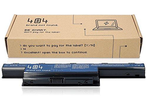 404Brand Batería del ordenador portátil para Packard Bell Easynote TS (10.8V, 4400 mAh, negro, 6 celdas)