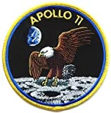 Nasa Apollo 11 Yellow Border Embroidered Badge Patch Sew-on or Iron-on 10cm