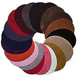 Anjing 20 Parches ovalados de Colores Surtidos para Planchar Parches de Tela de Cuero para Ropa Kit de Costura reparador