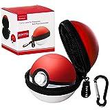 ZOYITO Pokémon Poké Ball Plus Etui Nintendo Switch Poké Ball Étui - EVA Rigide de Transport Housse / Case / Pochette / Sacoche pour Pokeball Plus Let's Go Pikachu Eevee Accessoires (White)