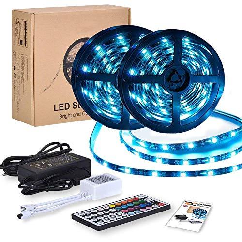 Striscia LED RGB 10 Metri | Led TV Retroilluminazione | Strip Led Strisce Led Adesive con 300 Led Dimmerabile | Luci Led per Decorare Interno e Esterno | Nastri Led Impermeabili IP65