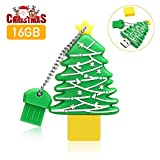MECO ELEVERDE Pendrive 16GB Giga Memoria USB 16gb 2.0 Creativo Árbol de Navidad Memory Stick Flash Drive, Acción de Gracias