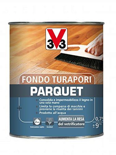 V33 Fondo Turapori Parquet H20 750ml