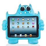 Funda Koooky con diseño infantil del monstruo Boo para iPad Air y Air 2 (Apple), resistente a caídas, arañados y golpes, con correa para sujetar a los reposacabezas del coche