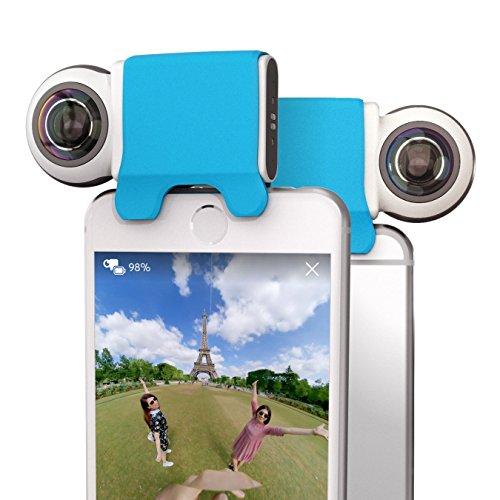 Giroptic iO HD 360 Degree Camera for iOS – Cámara con 2 Lentes de Calidad para Apple. Foto, vídeo, panorámicas. Tamaño de Bolsillo – Blanco y Negro