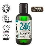 Naissance Olio di Rosa Canina Certificato Biologico 100ml - Idratante, Nutriente ed Emolliente per tutti i tipi di pelle - Utile per viso, capelli e unghie