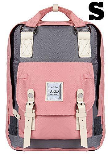 Large Capacity Backpack for boy and Girl School Bags for Teenagers Men Waterproof Classic Laptop Bagpack(PinkGrey)