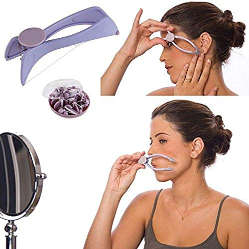 Brezzycloud Slique Eyebrow Face and Body Hair Threading Removal Epilator System Kit