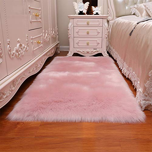 MU Home Living Room Doorway Comodino Moquette-Imitazione Lana Semplice Pelle Scamosciata...