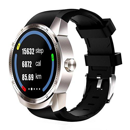 samLIKE Star 35smart Watch Bluetooth 3G Android SIM de teléfono 4gb Dual Core Pulsómetro GPS podómetro Dormir Monitor llamada y respuesta � la coolste Smart Watch Este Año & # x1F4a5; 】, plata