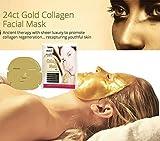 COLLÁGEN antiarrugas máscara facial con oro coloidal - por BLISSANY para la regeneración de la...