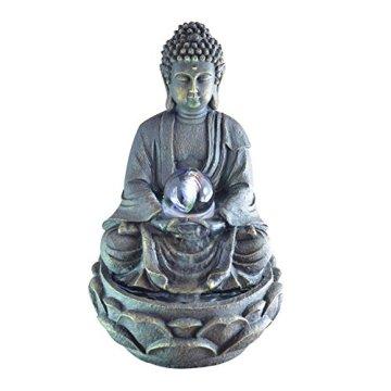 Zen Luz SCFR 8G Buddha Fuente Meditación Gran Interior Marrón Oscuro/Chocolate 21 x 21 x 30 cm 3