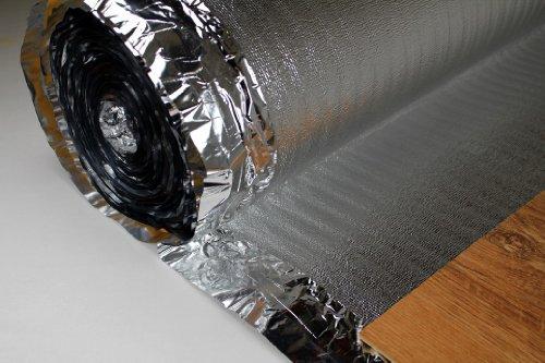 25 m2 con sottofondo in alluminio acqua-vapore fermo per LAMINATO pavimenti in parquet, SILVER PLUS...