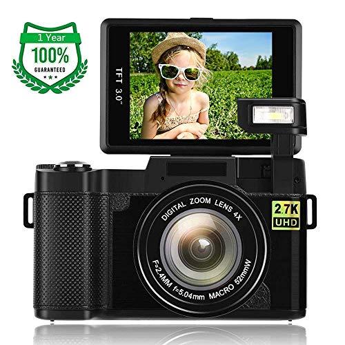 Fotocamera Digitale 2.7K 24.0MP Videocamera Digitale WiFi Macchina Fotografica con Schermo a Scatto...