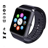 Maegoo Smartwatch Bluetooth, Smartwatch 1.54¡¯¡¯ with SIM Card and Memory Card Slot Smartwatch Band with Camera Facebook Wechat Pedometer Sleeping Monitor Smart Watch for Android Mobile Phone (Black)