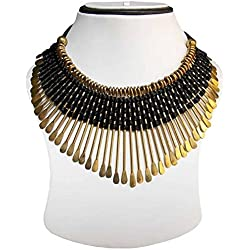 CHARMING JEWELS Black Alloy Necklace For Women