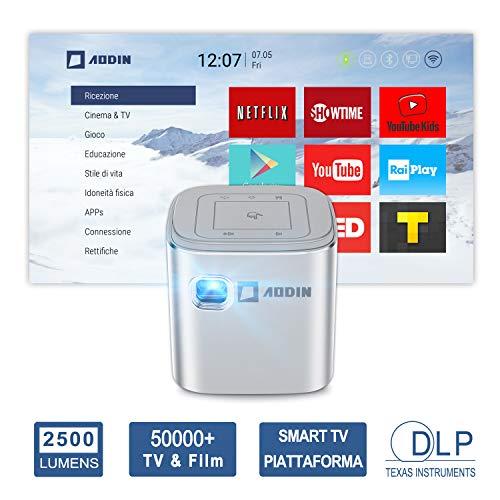 Proiettore portatile tascabile DLP LED Aodin Fusion 2500 Lumens