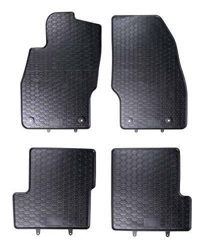 Tappeti Auto Tappetini in gomma su misura 1199036210011 set completo nero