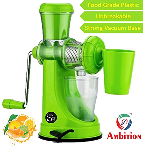 One Stop Shop Ambition Fruit And Vegetable Juicer With Steel Handle And Waste Collector (Multicolor)