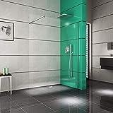 Duschkabine - Duschwand   Duschabtrennung aus ESG Sicherheitsglas 10mm · begehbare Dusche · Breite: 140 cm - Höhe: 200 cm   Burgtal 17954