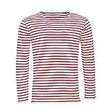 SOLS Marine - T-shirt rayé à manches longues - Homme (2XL) (Blanc/Rouge)