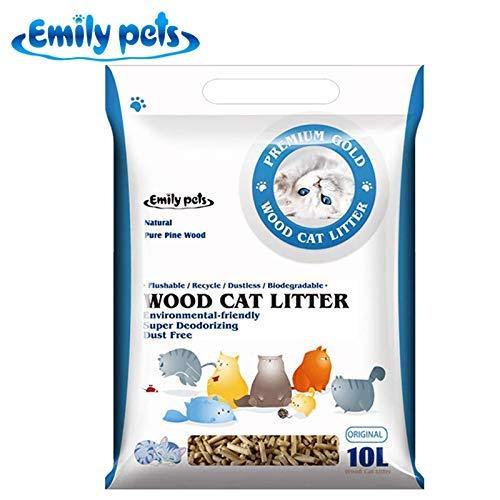 Emily Pets Pine Wood Cat Litter 10 LTR