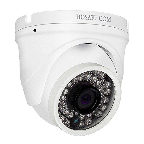 Telecamera IP HOSAFE Dome con audio Outdoor 1080P, visione notturna di 50 piedi, Allarme rilevamento movimento, Supporto Windows/Mac/Android/iPhone, Compatibile con NVR NVV o Software