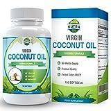 Cápsulas de Aceite de Coco Virgen, aceite de TCM con grandes beneficios. Ácidos grasos esenciales...