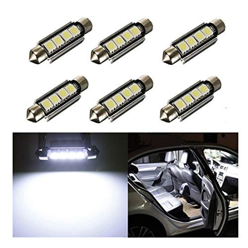 Inlink, 6 luci interne per auto, Canbus, 50504-SMD a LED, 42mm, lampadine auto, 6411578a LED...