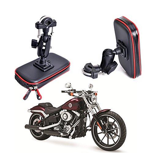 Cheeroyal Telefonhülle für das Motorrad oder Fahrrad, wasserfest, für Handys, GPS-Halterung, Motorrad- oder Fahrradlenker, Telefonständer, Universalhalter für Smartphones