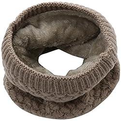 Cuello Caliente de Invierno Cuello de Punto Bufanda-Unisex (Café)