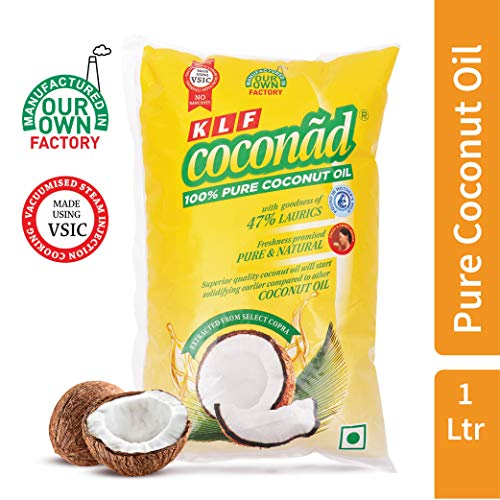 KLF Coconad Pure Coconut Cooking Oil Pouch, 1 L
