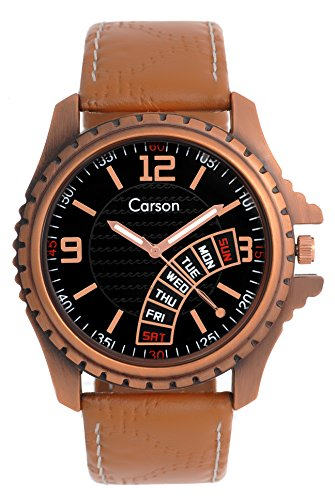 Carson Men's Black Analog Wrist Watch:-cr-2501