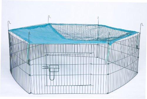 Trixie 6242 natura Freilaufgehege für Jungtiere mit Netz, ø 116 × 38 cm