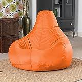 Bean Bag Bazaar - Puff (resistente al agua, para interiores o exteriores), color naranja