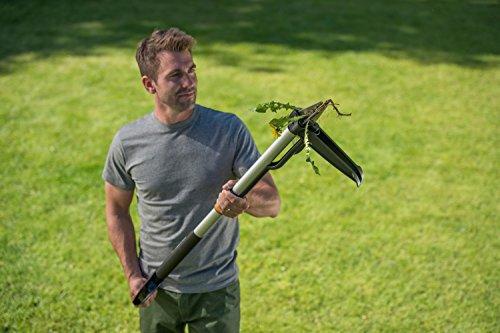 Fiskars SmartFit Weed Puller Telescopic, Length: 1 - 1.19 m, Stainless Steel Handle/Plastic Handle, Black/Orange, 1020125