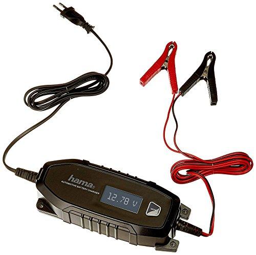 Hama Autobatterie-Ladegerät (für Auto, Motorrad, Boot, 6/12V, für AGM   Li-Ion   Blei-Säure   Nass   Gel-Batterien, Erhaltungsladung, Tiefentladung, Pol-Klemmen, Automatik KFZ-Batterieladegerät)