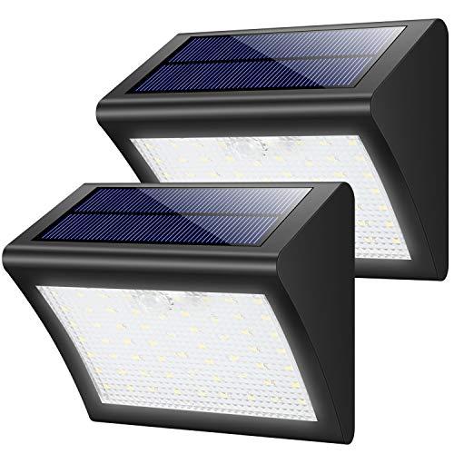 Luce Solare Esterna, Yacikos [2 Pezzi] 60 LED Lampada Solare con Sensore di Movimento Luci Solari...