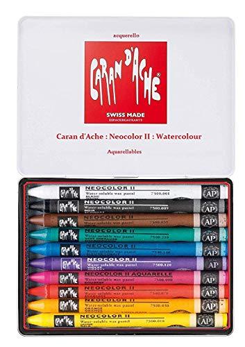 Pasa el ratón por Encima de la Imagen para ampliarla Caran d'Ache Neocolor II - lápices de Watercolor,Set 10pcs Juego de Ceras de Color